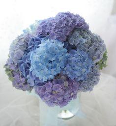 青 : 一会 ウエディングの花