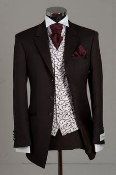 The Bunney Blog: New Ideas - Brown and Burgandy Wedding Suit