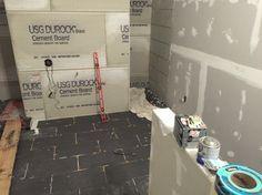 Shower renovation phases