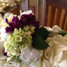 Mother's Mini Bouquet with green and purple accents