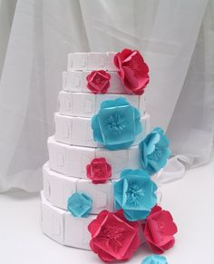 7tier paper cake  84 favor boxes by hyp1ro on Etsy, $33.00