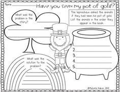 "My kiddos are going to be reading ""Have you seen my pot of Gold?"" and doing this worksheet for book center this week."