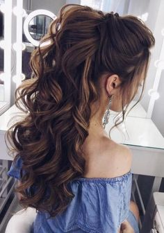 72 bridal wedding hairstyles for long hair, the # wedding frie .- 72 braut hochzeitsfrisuren für lange haare, die lieben … 72 brews wedding hairstyles for long hair who love # wedding hairstyles … hairstyles - Wedding Hairstyles For Long Hair, Wedding Hair And Makeup, Easy Hairstyles, Hair Makeup, Hairstyle Wedding, Hairstyle Ideas, Hairstyle Short, Perfect Hairstyle, Curly Hair Styles Wedding