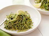 Picture of Kale and Pistachio Pesto Spaghetti Recipe