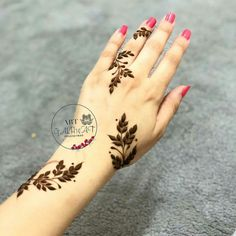 Temporary Tattoos – A Quick Guide Henna Tattoo Designs Simple, Latest Henna Designs, Floral Henna Designs, Henna Designs Feet, Arabic Henna Designs, Mehndi Designs For Girls, Modern Mehndi Designs, Mehndi Designs For Fingers, Beautiful Henna Designs