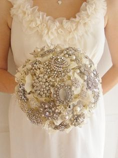 Brides Bouquet | Bridal Bouquets With Brooches | Bouquets And Brides