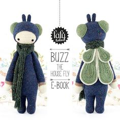 Hey, I found this really awesome Etsy listing at https://www.etsy.com/listing/84339362/crochet-pattern-doll-buzz-the-house-fly