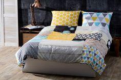 Wer in diesem #Bett in cooler #Flickenoptik schlafen geht, bekommt schon beim Aufwachen gute Laune! :-)
