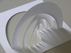 Architectural Design Study with a desktop CNC(Computer Numerical Control) Cutting Machine. Kirigami, Indien Design, Nirmana 3d, Folding Architecture, Pop Up Karten, Paper Art Design, Paper Structure, Paper Engineering, Arch Model