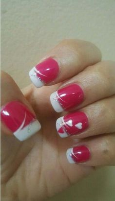 Adorable DIY Valentines Day Nails 44