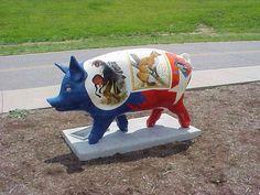 Great American Swine Art in Cincinnati's Big Pig Gig