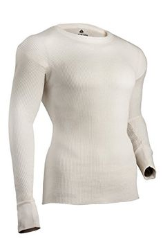 Indera Mens Cotton Rib Knit Thermal Underwear Top ColdPruf Baselayer