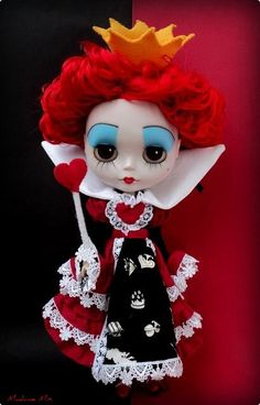 *RED QUEEN ~  from Alice in Wonderland - Custom Blythe Doll - by Madame Mix, via Flickr