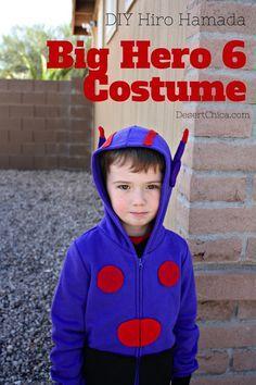 Big Hero 6 Costume: DIY Hiro Sweatshirt #Bighero6Release #AD