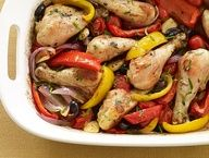 Roasted Chicken Drumsticks Provençal #Recipe