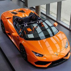 The Lamborghini Huracan was debuted at the 2014 Geneva Motor Show and went into production in the same year. The car Lamborghini's replacement to the Gallardo. The Huracan is available as a coupe and a spyder. Luxury Sports Cars, Exotic Sports Cars, Best Luxury Cars, Exotic Cars, Lamborghini Gallardo, Lamborghini Huracan Spyder, Lamborghini Cars, Koenigsegg, Ferrari Bike