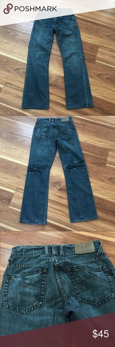 Armani Exchange Men's Jeans sz28 Size 28 Regular 29 inch inseam. Great used condition, minimal wear on bottoms, see pics. Armani Exchange Jeans Straight
