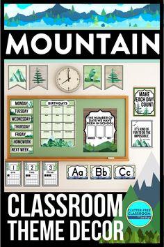 Elementary Classroom Themes, Classroom Decor Themes, Classroom Jobs, Classroom Design, Elementary Teacher, Future Classroom, Student Bookmarks, Real Teacher, Classroom Birthday