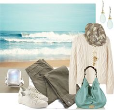 """Fall Beach Walk"" by simple-wardrobe ❤ liked on Polyvore"