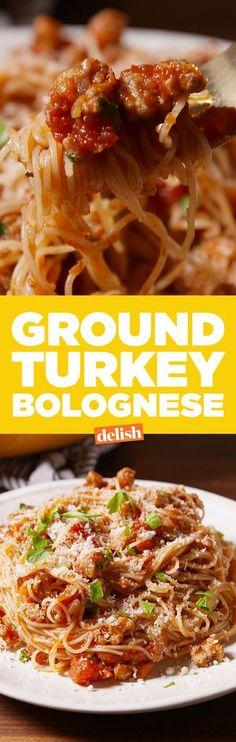 Ground Turkey Bolognese