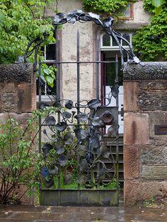 Wrought Iron Gate III  This ornate gate is just off St Leonard's Street in Edinburgh.