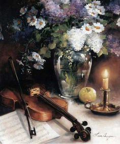 Lise Auger - a history of a violin Still Life Photos, Still Life Art, Instruments, Cool Anime Guys, Guitar Photography, Guitar Painting, Garden Painting, Impressionist Art, Painting Inspiration