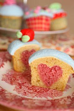 cupcake full of heart