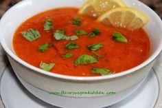 Supa crema de rosii cu linte - fleursvegankitchen