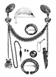 . Medieval Jewelry, Viking Jewelry, Viking Culture, Ancient Vikings, Viking Age, Iron Age, Celtic, Jewerly, Glass Beads