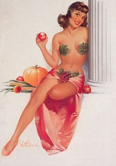 Image gallery for the vintage pinup art of Ted Withers