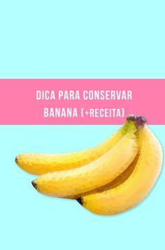 Como congelar e conservar banana! // palavras-chave: dica, truque, geladeira, fruta, alimentação, saúde, saudável, comida, amarelo, receita, vegano, vegetariano // food, fruit, trick