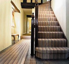 striped stairs carpet   wowcarpets.com  (the matching runner)