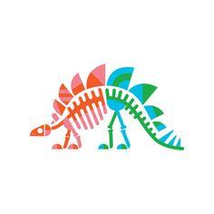 Stegosaurus Fossils by Tattly