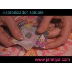 Aprende como usar el estabilizador Soluble de tela Jaba, Lunch Box, Wool, Youtube, Scrappy Quilts, Chalkboard Fabric, Lamp Shades, Learn To Sew, How To Sew