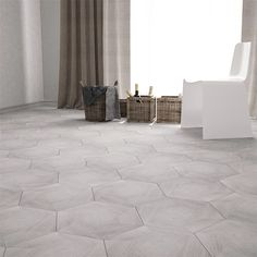 Klinker Hill Ceramic Oak Hexagon 34,6x40 cm Grey Ash - Klinker hall - Klinker