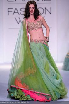 Kalki in Anushree Reddy's Lehenga @ Lakme Fashion Week Winter-Festive 2013-14 http://www.kalkifashion.com/designers/anushree-reddy.html