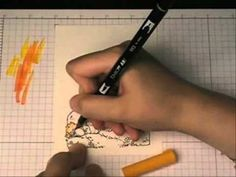 Colouring with Tombow - YouTube Tombow Markers, Brush Markers, Chalk Markers, Pen And Watercolor, Watercolor Painting, Tombow Dual Brush, Colouring Techniques, Card Making Techniques, Copics