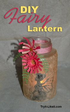 Want to see what I made with files from The Craft Chop? Check out this Fairy Lantern post. I used the Fairy file that has already been shared, and this new file for the daisy flowers. Fairy Lights In A Jar, Fairy Jars, Tissue Paper Crafts, Tissue Paper Flowers, Diy And Crafts, Crafts For Kids, July Crafts, Dream Jar, Fairy Lanterns