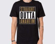 Straight Outta Anaheim Ducks T-Shirt ( Anaheim Ducks Hockey Apparel, Mighty Ducks Shirt, Ryan Getzlaf, Corey Perry, Ryan Kessler Shirt )