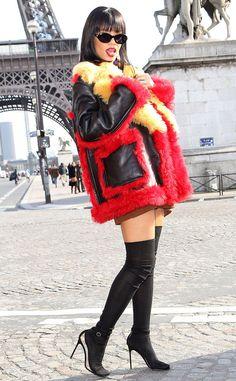 Who's having the most fun at Paris Fashion Week? Rihanna, obviously!