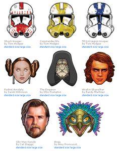 free printable masks star wars