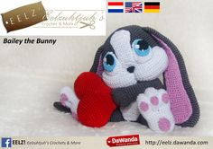 Bailey+the+Bunny+-+Crochet+Pattern+from+Eelz!+-+Eelzuhtjuh's+Crochet+&+More+by+DaWanda.com