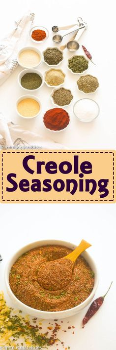 Creole Cajun Seasoning-A must have cajun seasoning that adds boldness and extra flavor to any dish. Everything you need is in your spice pantry, quick to put together and can be easily customized for personal preference. Rub Recipes, Cajun Recipes, Cooking Recipes, Cajun Food, Oven Recipes, Yummy Recipes, Creole Seasoning, Seasoning Mixes, Cajun Seasoning Recipe