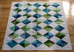 (Diamonds, by grammardog.) I love her colors in this quilt. Beautiful