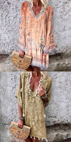 Veveeye has a great selection of boho dresses for sale, including maxi dresses, summer dresses, and beach dresses in a variety of designer styles. Beach Dresses, Women's Dresses, Summer Dresses, Beautiful Dresses For Women, Beautiful Outfits, Casual Street Style, Street Style Looks, Party Fashion, Boho Fashion