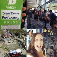 Special thanks to @fastcompany Company for having our CEO #JesseDraper as their ambassador at #VidCon this weekend!   #MysteryGuitarMan #Youtbe #Tech #ValleyGirlShow