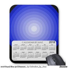 2018 Royal Blue Dimension Calendar by Janz Mouse Pad