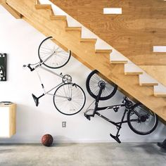 Bikes -- Cool Way to Store Bikes in a small space