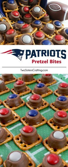 Our easy to make New England Patriots Pretzel Bites are yummy bites of sweet and salty Football Game Day goodness. They are perfect as a little extra treat at a NFL playoff party, a Super Bowl party or as a special dessert for the New England Patriots fan in your life. Follow us for more fun Super Bowl Food Ideas.