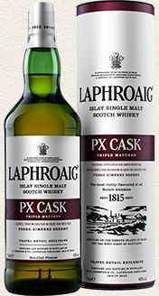 """PX Cask is the first to enjoy maturation in Pedro Ximenez sherry casks, widely referred to as """"PX"""" casks. Pedro Ximenez sherry is known to be naturally sweet made from dried Pedro Ximenez grapes.  The three types of barrels used in the maturation each impart a subtly different character, from American oak to Quarter Cask to Pedro Ximenez sherry."""